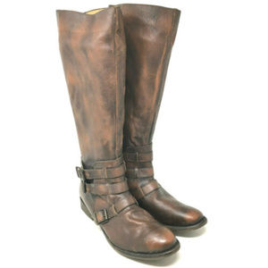 Free People Farylrobin Jackie Brown Leather Boots